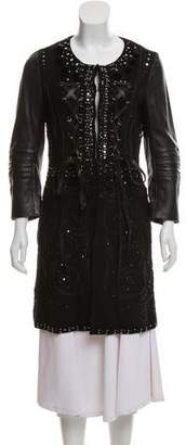 Emilio Pucci Embellished Leather Coat
