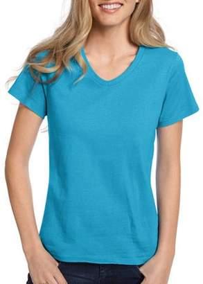 Hanes Women's Comfort Soft Short Sleeve V-neck Tee
