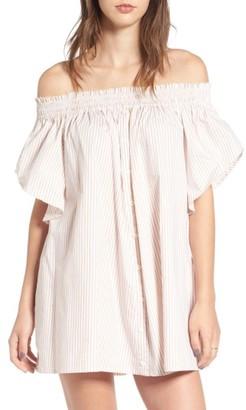 Women's Faithfull The Brand Deia Stripe Off The Shoulder Dress $139 thestylecure.com