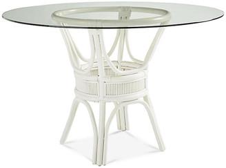 Bermuda Rattan Round Dining Table - White - South Sea Rattan