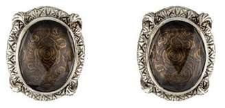 Stephen Dweck Rock Crystal Doublet Clip-On Earrings