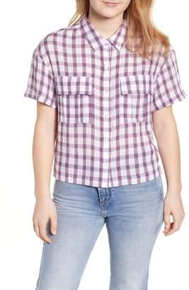 BP Drop Shoulder Plaid Shirt