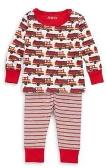 Hatley Baby Boy's & Little Boy's Two-Piece Cotton Fire Truck Mini Pajamas Top and Pants Set