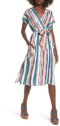 Santorini Lost + Wander Faux Wrap Dress