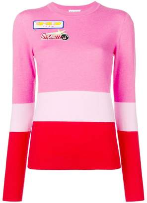 Mira Mikati colour-block knitted top
