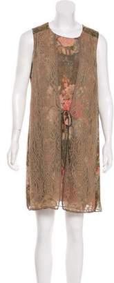 Anna Sui Sleeveless Mini Dress