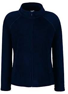 Fruit of the Loom Women's Lady Fit Full Zip Fleece Longsleeve T-Shirt,X-Large