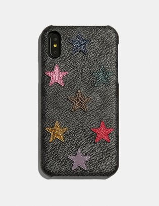 5d5946ea7c Coach Iphone Xr Case In Signature Canvas With Star Print