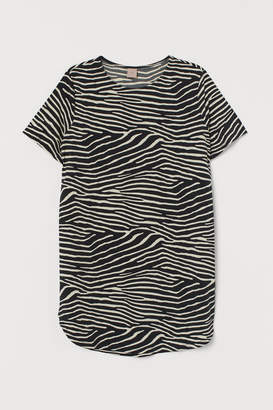 H&M H&M+ Short-sleeved Tunic - Black