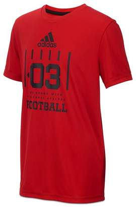 adidas Boys' Short Sleeve Football Graphic Tee - Big Kid