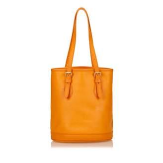 Louis Vuitton Bucket Orange Leather Handbag