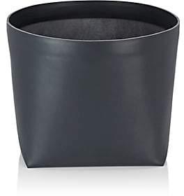 Arte & Cuoio Teso Leather Giant Basket - Dark Grey