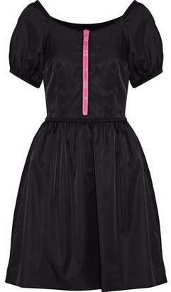 Prada Zip-Detailed Satin-Faille Mini Dress