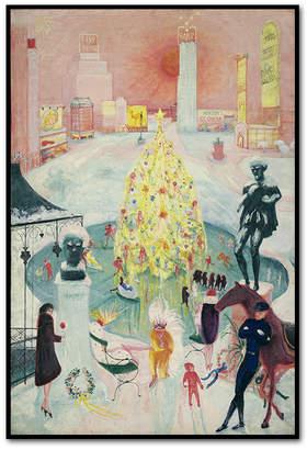 Museums.Co Christmas Framed Art Print by Florine Stettheimer