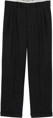 Burberry Wide-leg Wool Mohair Tailored Trousers