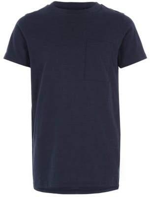 River Island Boys navy pocket T-shirt