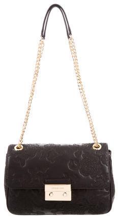 MICHAEL Michael KorsMichael Kors Floral Embroidered Leather Bag