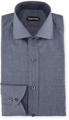 Tom Ford Slim-Fit Tonal Check Dress Shirt