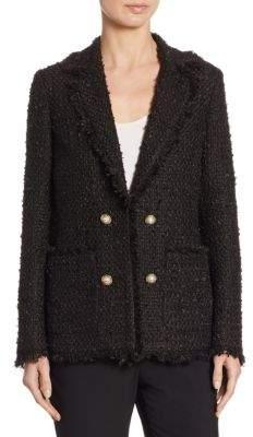 Edward Achour Tweed Fringe Jacket