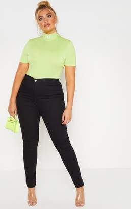 PrettyLittleThing Plus Black Stretch Jegging