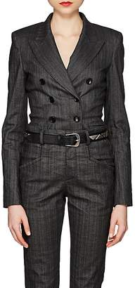 Isabel Marant Women's Kyla Pinstriped Denim Double-Breasted Blazer