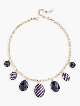 Talbots Stripes & Beads Necklace