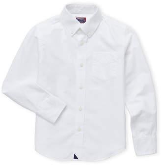 Untuckit (Boys 8-20) White Button-Down Sport Shirt