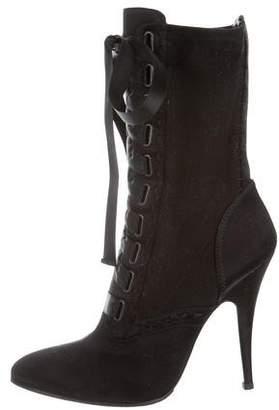 Giuseppe Zanotti x Balmain Uma Lace-Up Ankle Boots