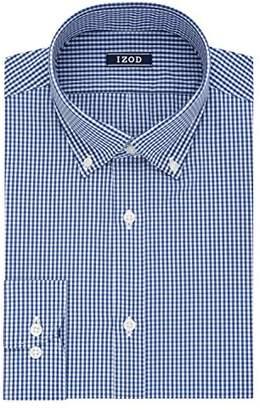 Izod Men's Slim Fit Check Buttondown Collar Dress Shirt
