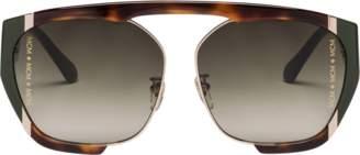 MCM Squared Aviator Sunglasses