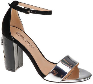 Badgley Mischka AMERICAN GLAMOUR American Glamour Womens Bianca Pumps Buckle Round Toe Block Heel