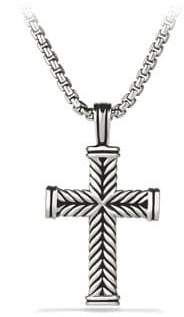 David Yurman Chevron Cross Pendant