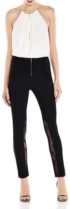 Haute Hippie The Thorny Rose Lace-Inset Cropped Skinny Pants