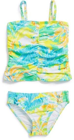 Hula Star 'Palm Springs' Two-Piece Tankini Swimsuit (Little Girls)