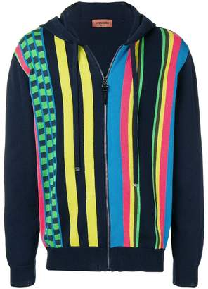 Missoni colour-bock zipped hoodie