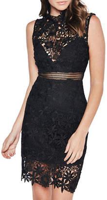 Bardot Lace Illusion Sheath Dress