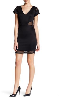 Trixxi Scuba Mesh Cutout Dress $49 thestylecure.com