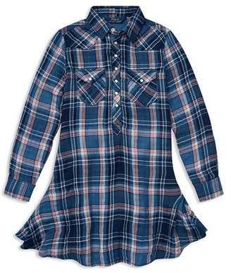 Ralph Lauren Girls' Plaid Western Shirt Dress - Big Kid