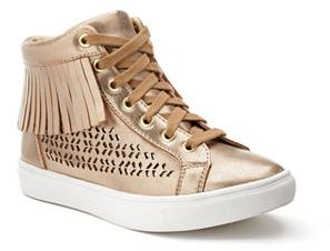 Candie's® Girls' Metallic High-Top Sneakers $54.99 thestylecure.com