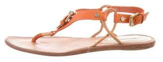 Celine Leather Slingback Sandals