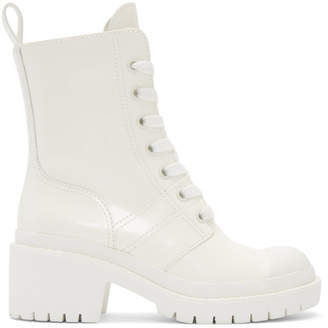 Marc Jacobs White Bristol Laced Up Boots