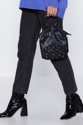 Nasty Gal WANT Star Studded Show Circle Handle Bag