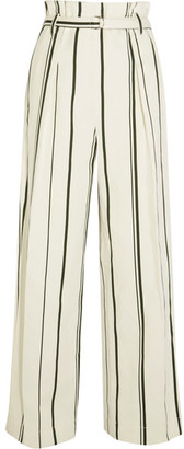 3.1 Phillip Lim - Striped Cotton And Linen-blend Wide-leg Pants - Cream
