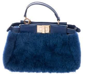 c10836d39fa Fendi Leather-Trimmed Micro Peekaboo w/ Tags