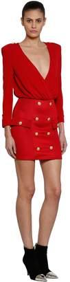 Balmain Jersey Dress With Buttons