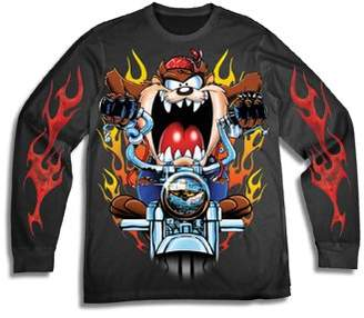 592dc939 Looney Tunes Movies & TV Men's Taz Long Sleeve Graphic Tee with Sleeve  Prints