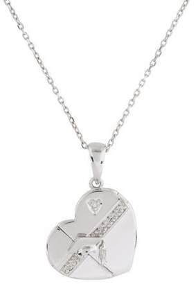 14K Diamond Heart Locket Necklace