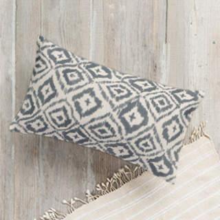 Painterly Ikat Lumbar Pillow