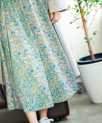 BAYFLOW (ベイフロー) - フラワープリントスカート