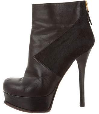 Fendi High-Heel Platform Booties